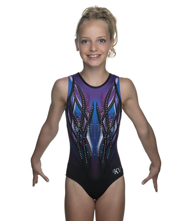 "KV Gymnastics Wear Leotard ""Victory"" purple/blue"