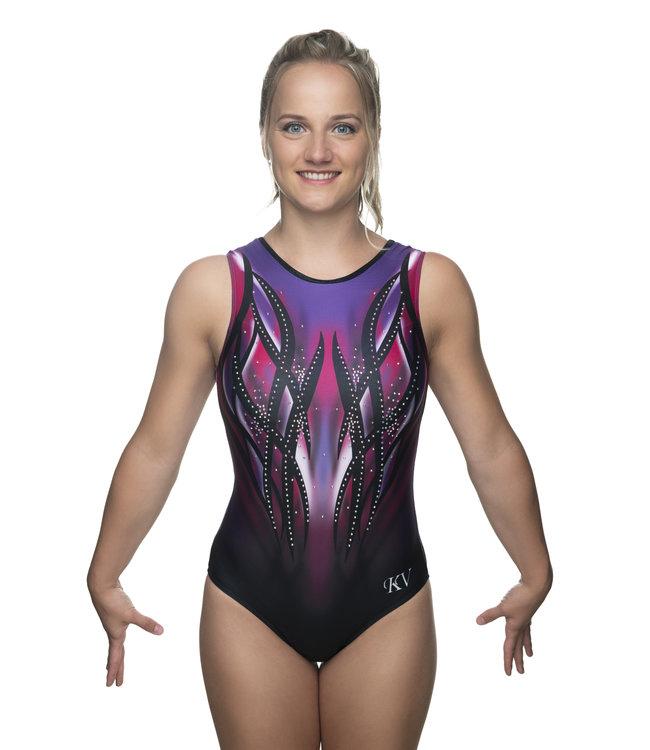"""KV Gymnastics Wear Turnpakje """"Victory"""" paars/roze"""