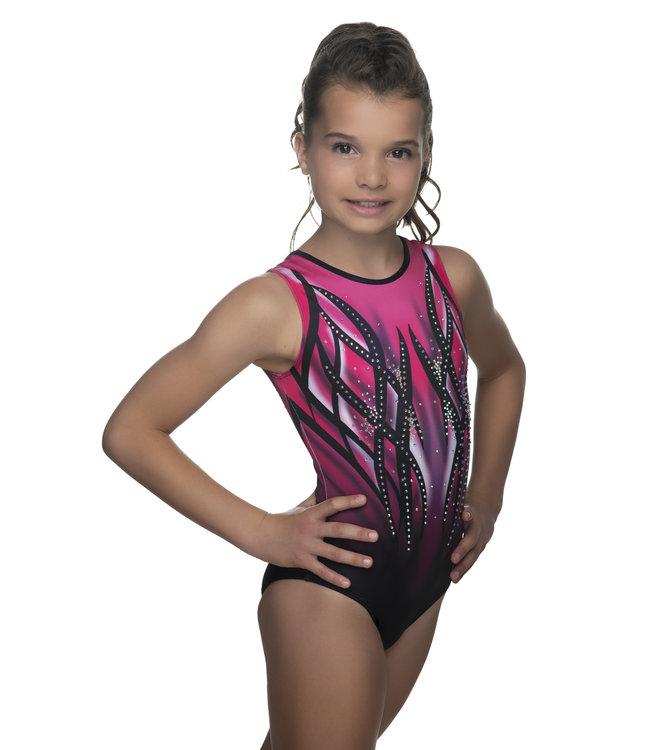 "KV Gymnastics Wear Leotard ""Victory"" pink"