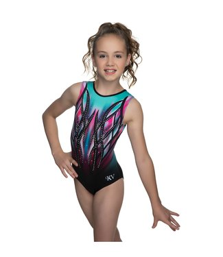 "KV Gymnastics Wear Turnpakje ""Victory"" mint/roze"
