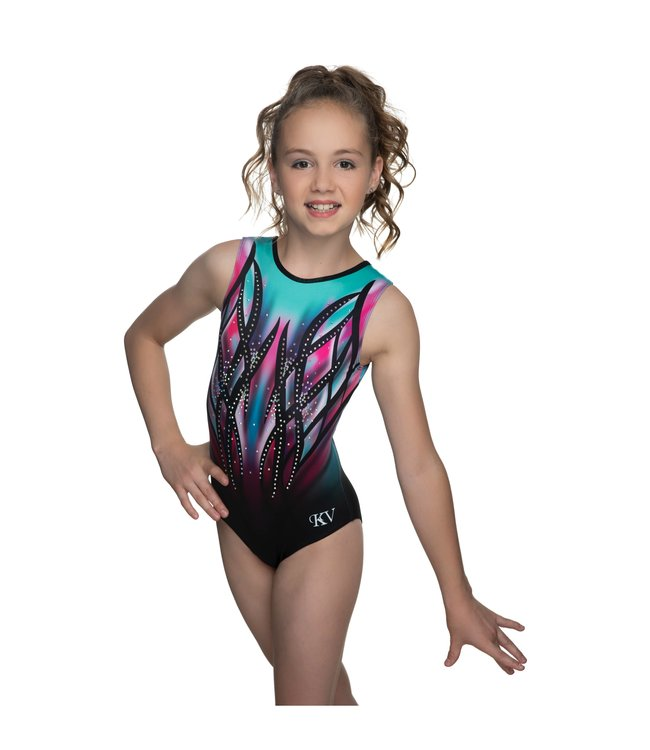 "KV Gymnastics Wear Leotard ""Victory"" mint/pink"