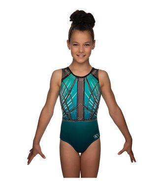 "KV Gymnastics Wear Turnpakje ""Faith Mouwloos"" groen"