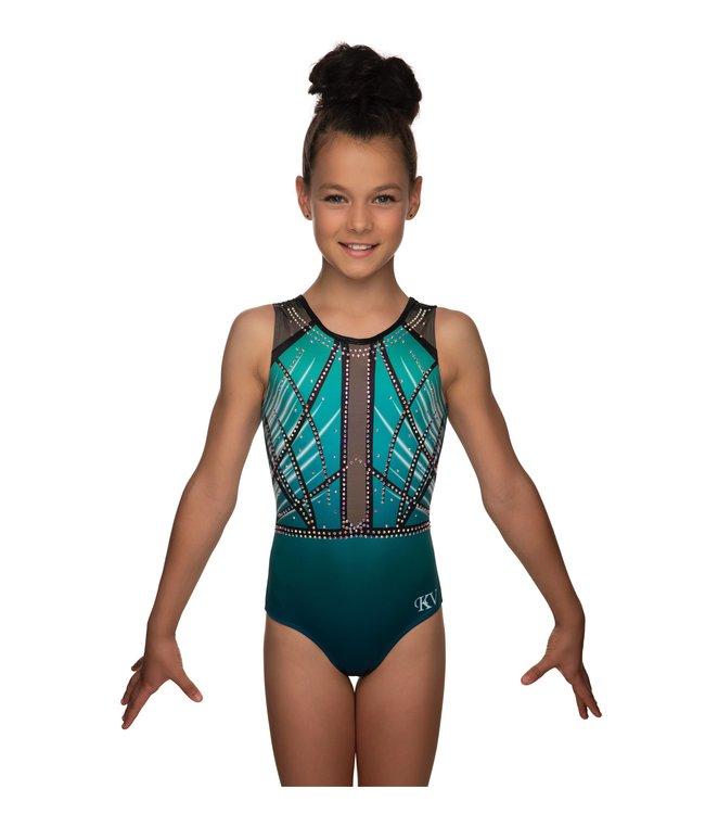 "KV Gymnastics Wear Turnpakje ""Faith Mouwloos"" groen"