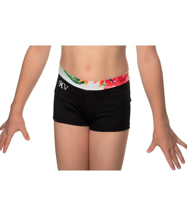 KV Gymnastics Wear Turnbroekje met Tropical print