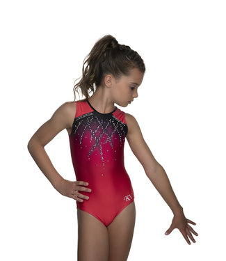 """KV Gymnastics Wear Turnpakje """"Roxy Mouwloos"""" koraal"""