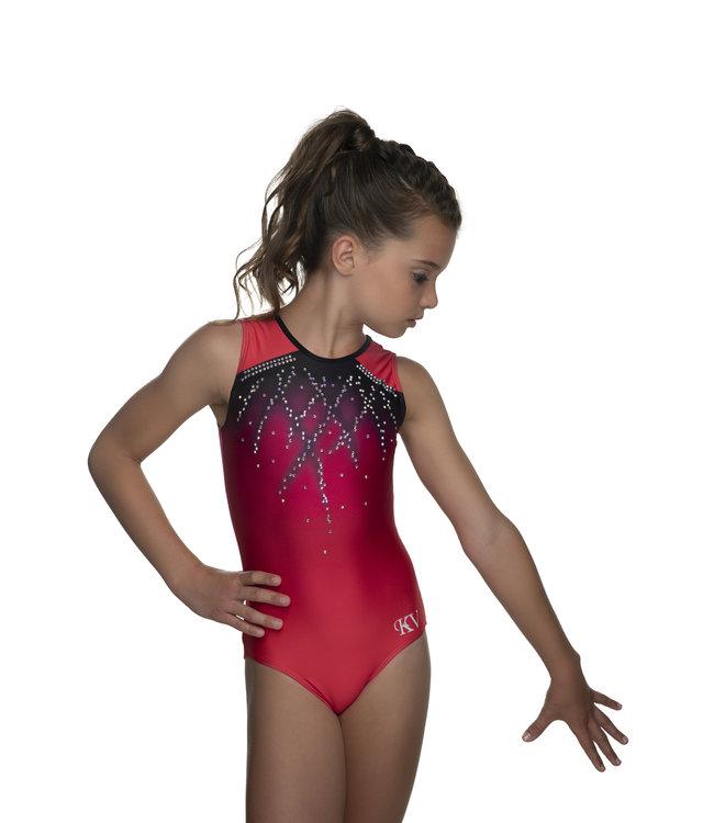 "KV Gymnastics Wear Leotard ""Roxy Sleeveless"" Coral"