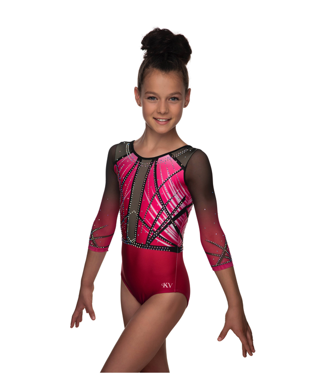 "KV Gymnastics Wear Leotard ""Faith"" pink"