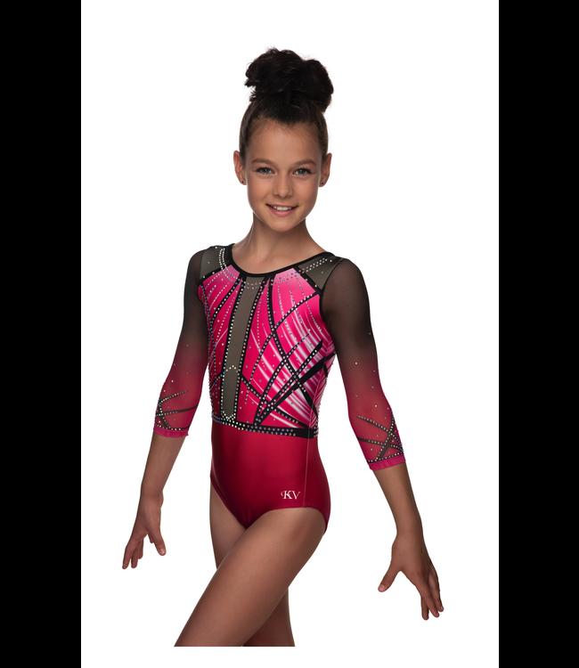 "KV Gymnastics Wear Turnpakje ""Faith"" roze"