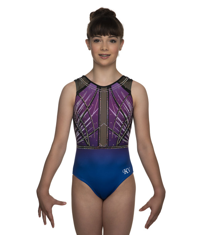 "KV Gymnastics Wear Leotard ""Faith Sleeveless"" purple"