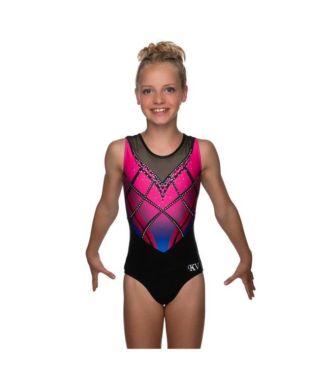 "KV Gymnastics Wear Leotard ""Rebel"" pink"