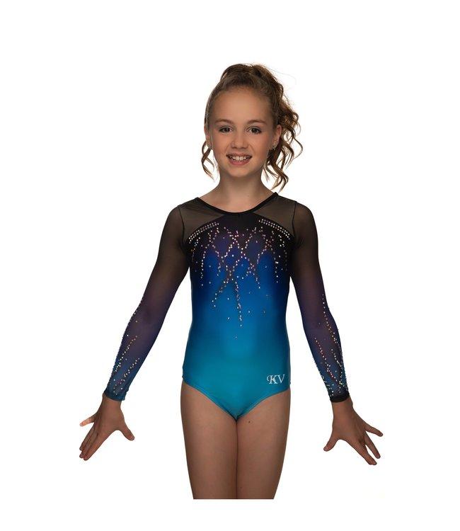 "KV Gymnastics Wear Leotard ""Roxy"" blue"