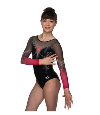 "KV Gymnastics Wear Turnpakje ""Jewel"" koraal"