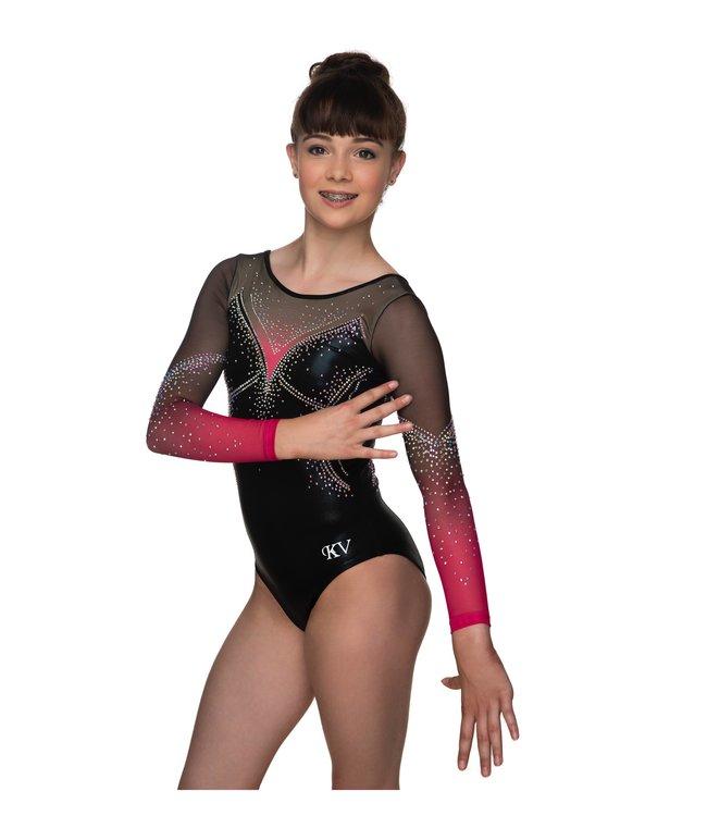 "KV Gymnastics Wear Leotard ""Jewel"" coral"