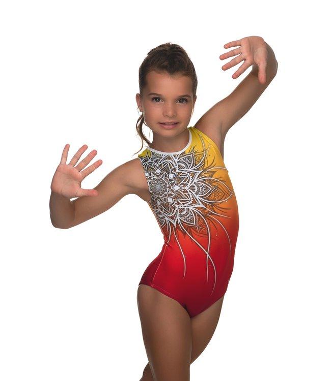 "KV Gymnastics Wear Leotard ""Coco"" sunset"