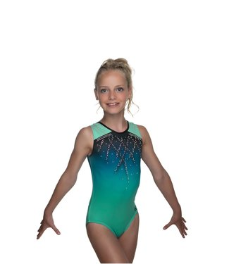 "KV Gymnastics Wear Leotard ""Roxy Sleeveless"" green"