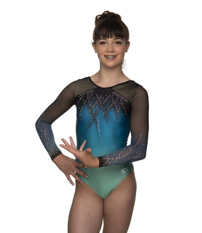 "KV Gymnastics Wear Leotard ""Roxy"" green"