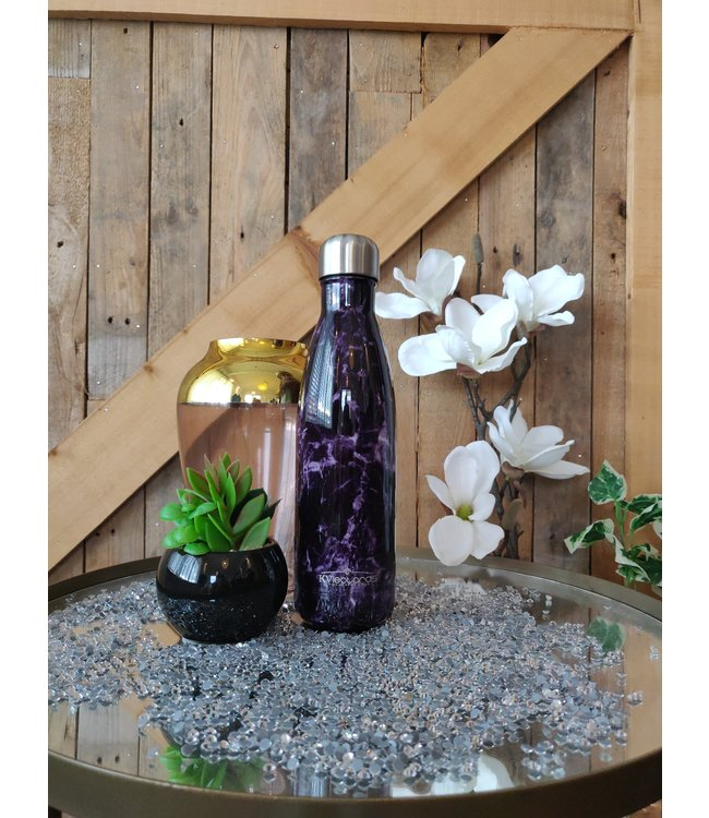 KV Drinkfles Marble Purple
