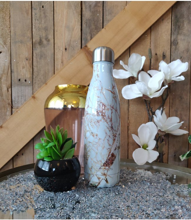 KV Waterbottle Marble Gold