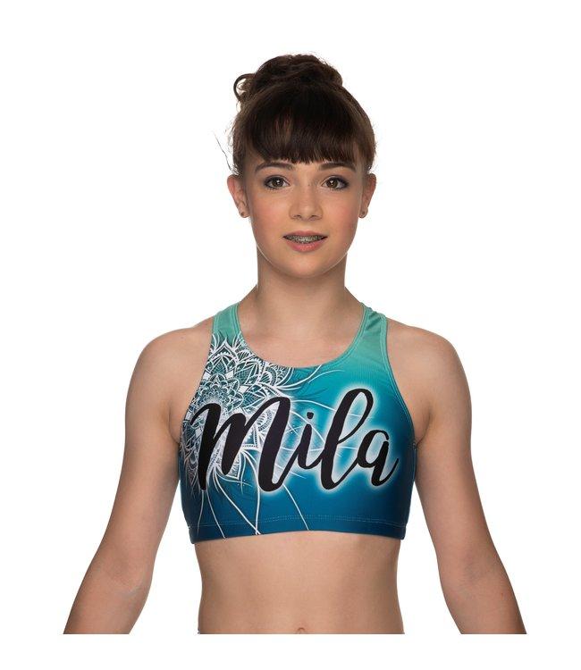 """KV Gymnastics Wear Sporttop """"Coco"""" groen met naam"""