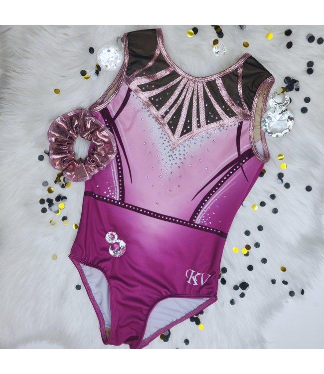 "KV Gymnastics Wear Limited Edition leotard ""Bubblegum Blush"""