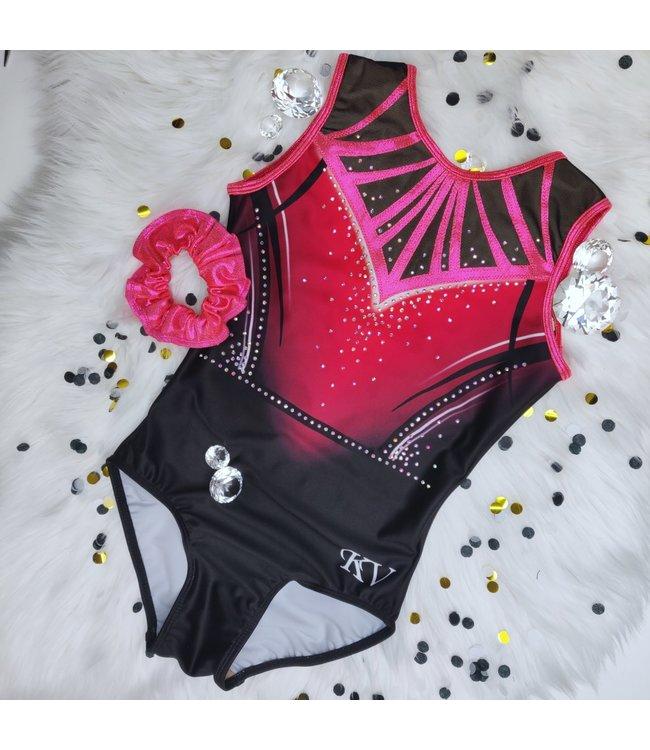"KV Gymnastics Wear Limited Edition leotard ""Strawberry Pink"""