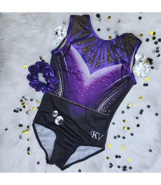 "KV Gymnastics Wear Limited Edition leotard ""Purple Rain"""