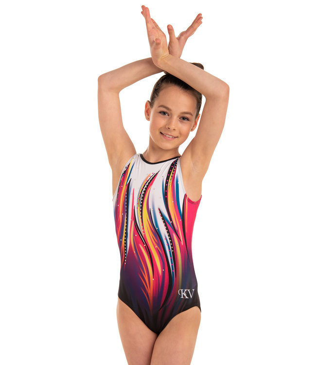 "KV Gymnastics Wear Leotard ""Raspberry Dreams"""