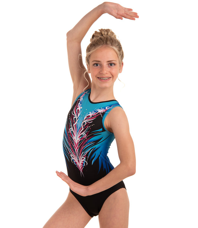 "KV Gymnastics Wear Leotard ""Divine"" Blue"