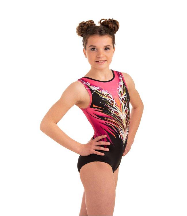 """KV Gymnastics Wear Leotard """"Divine"""" Pink"""