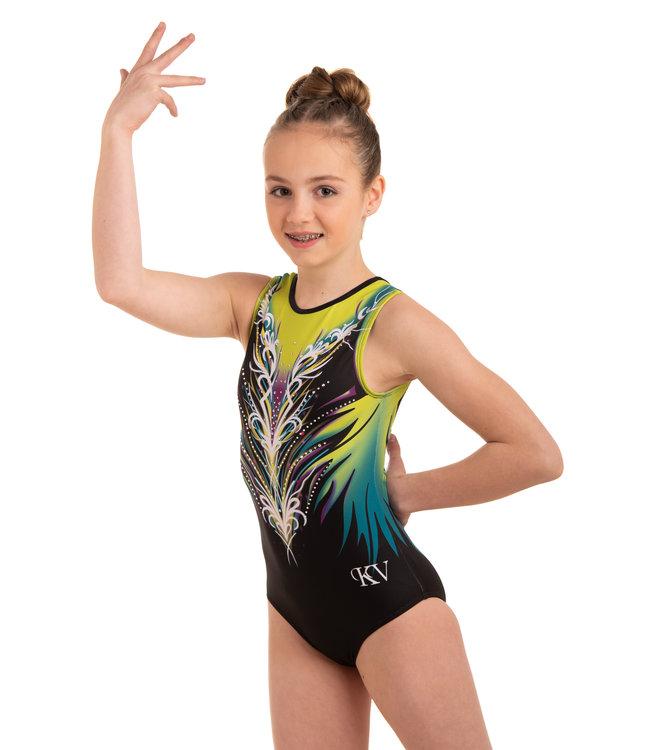 "KV Gymnastics Wear Leotard ""Divine"" Lime"