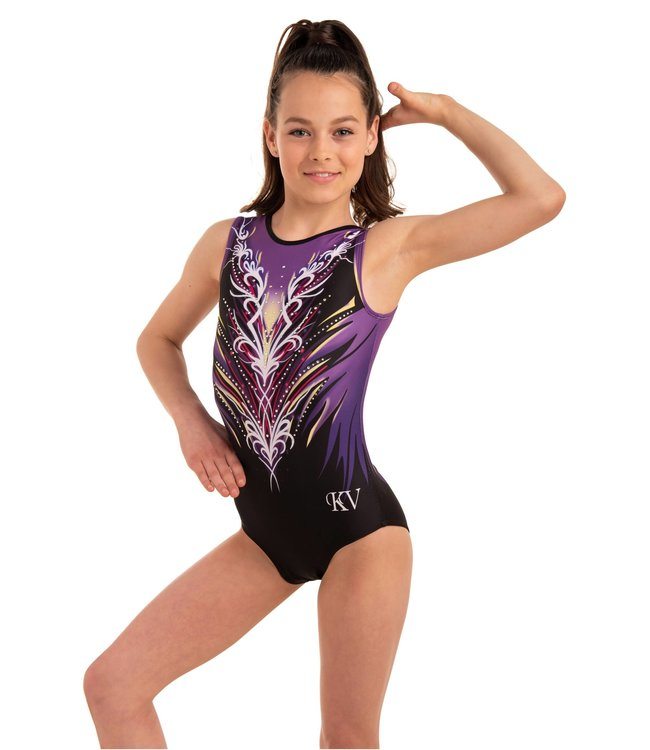 "KV Gymnastics Wear Turnpakje ""Divine"" Purple"
