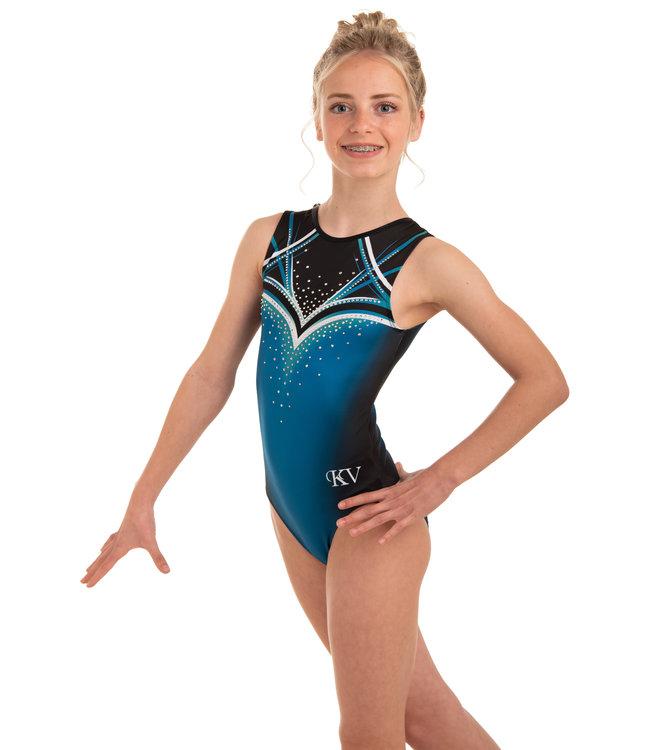 """KV Gymnastics Wear Leotard """"Celeste"""" Teal"""