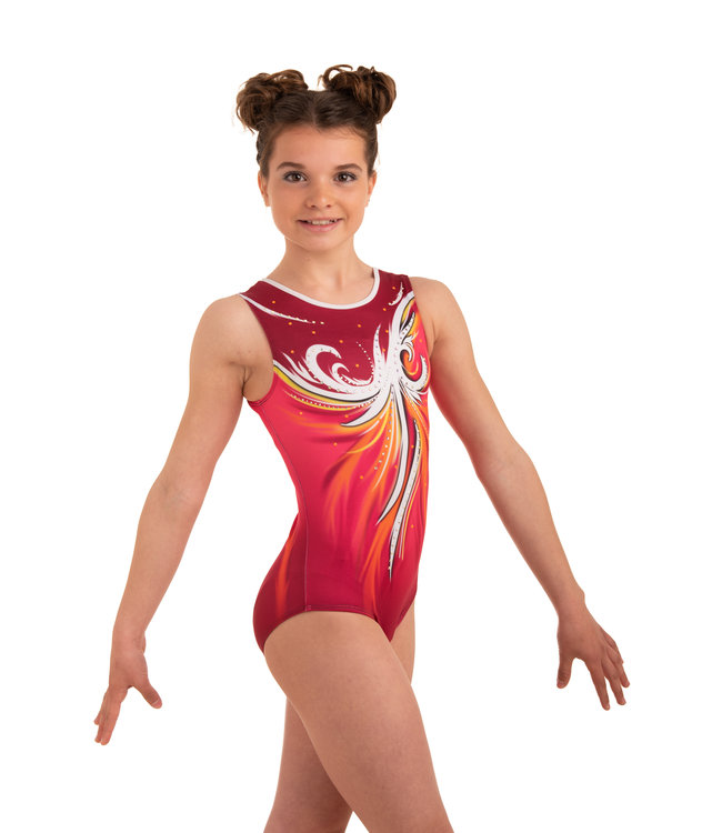 """KV Gymnastics Wear Leotard  """"Aphrodite"""" Sunrise"""