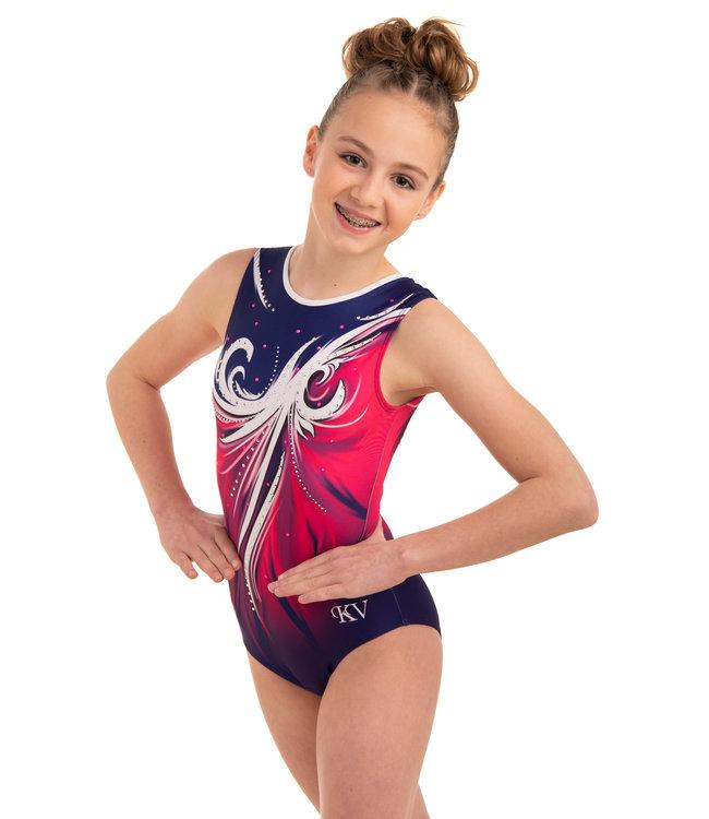 "KV Gymnastics Wear Leotard  ""Aphrodite"" Afterglow"