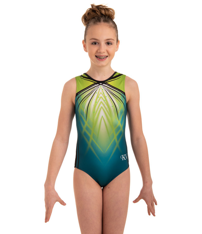 "KV Gymnastics Wear Leotard ""Fiona Flair"" green"