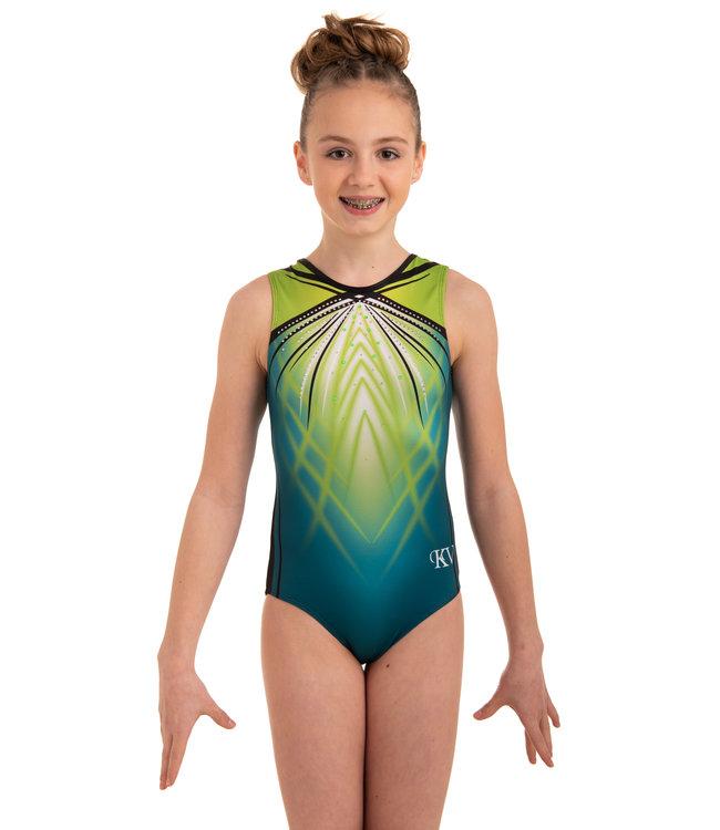 "KV Gymnastics Wear Turnpakje ""Fiona Flair"" groen"