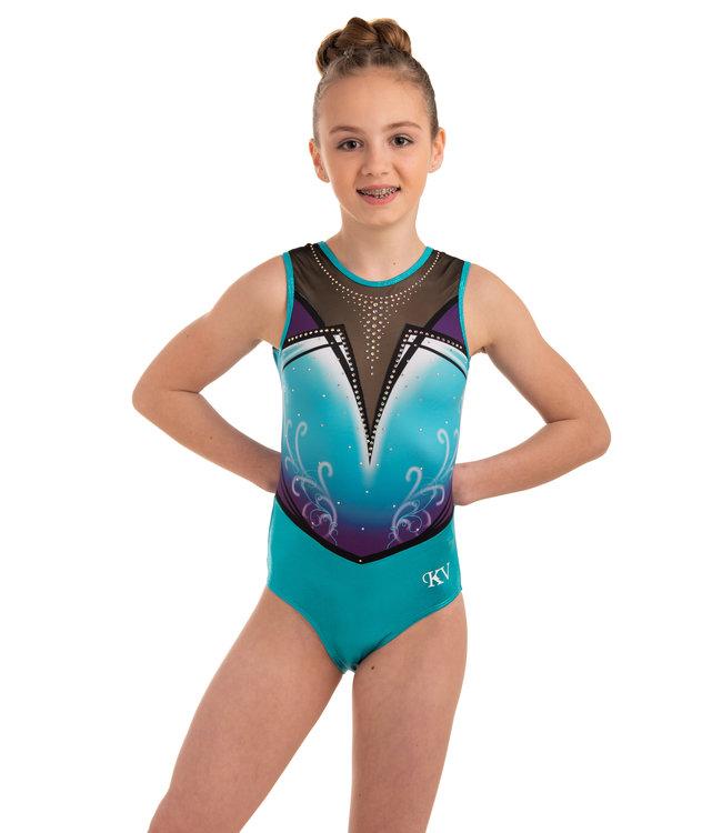 "KV Gymnastics Wear Leotard ""Enya"" Turquoise"