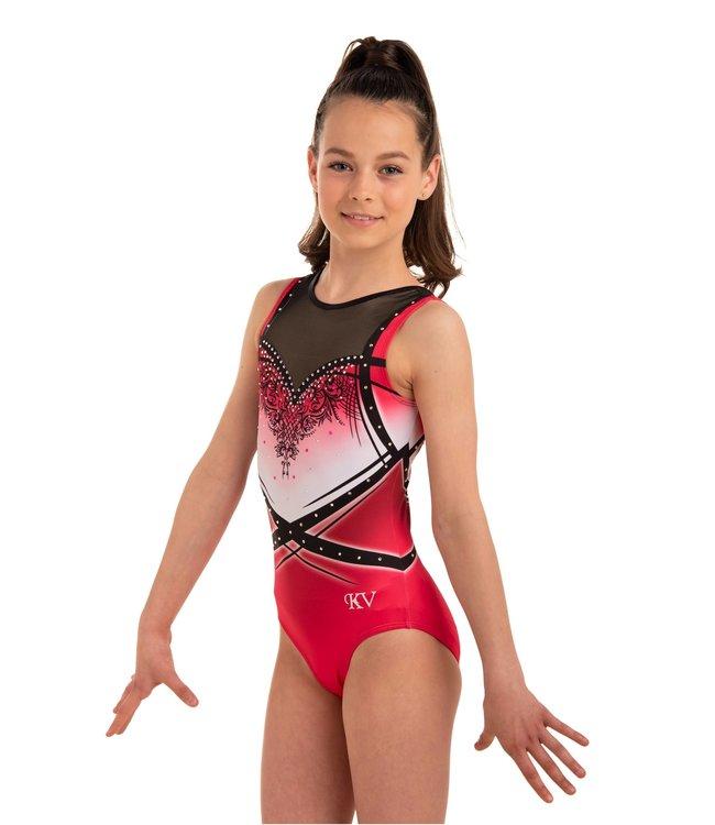 "KV Gymnastics Wear Leotard  ""Lacey"" bordeaux"