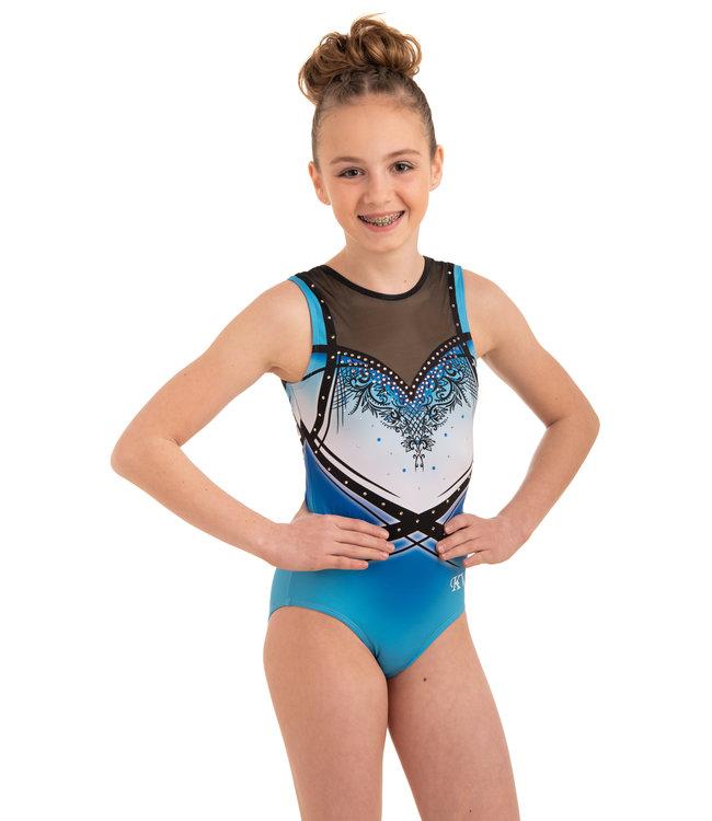 "KV Gymnastics Wear Leotard  ""Lacey""  blue"