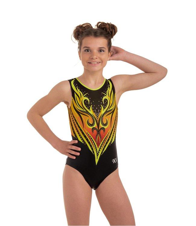 "KV Gymnastics Wear Leotard  ""Vanity"" yellow"