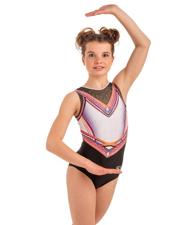 "KV Gymnastics Wear Leotard ""Summer Vibes"" pink"