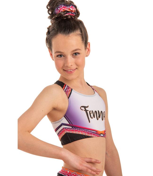 "KV Gymnastics Wear Sporttop ""Summer Vibes"" pink"