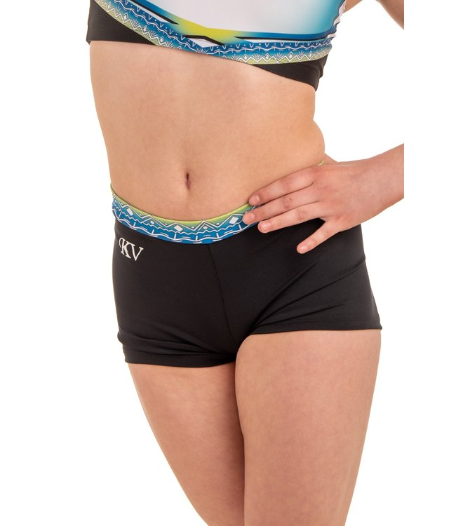 "KV Gymnastics Wear Shorts ""Summer Vibes"" lime"