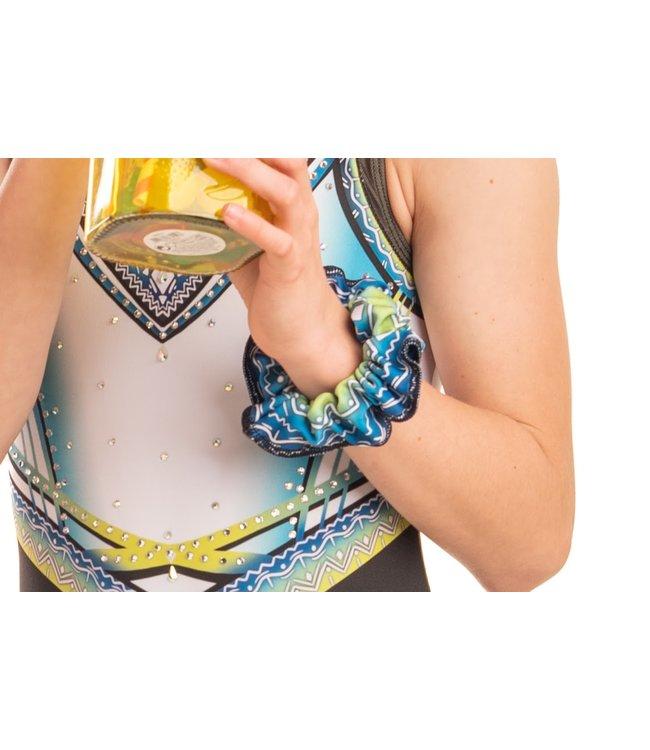 "KV Gymnastics Wear Scrunchie ""Summer Vibes"" lime"