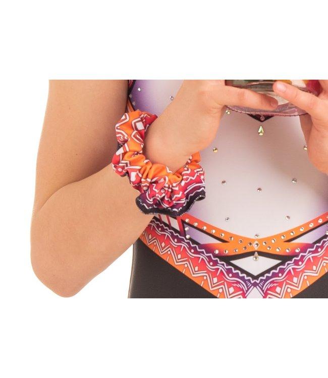 """KV Gymnastics Wear Scrunchie """"Summer Vibes"""" pink"""