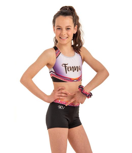 "Set ""Summer Vibes"" pink - top + shorts + scrunchie worth €54,97!"