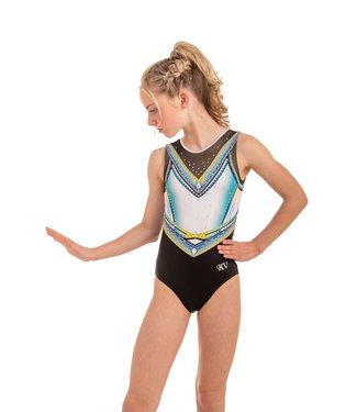"KV Gymnastics Wear Leotard ""Summer Vibes"" lime"
