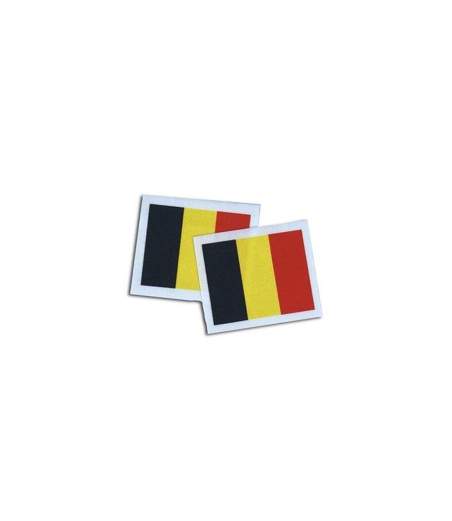 KV Gymnastics Wear Belgische vlag stretch (6,5cm x 5,5cm)