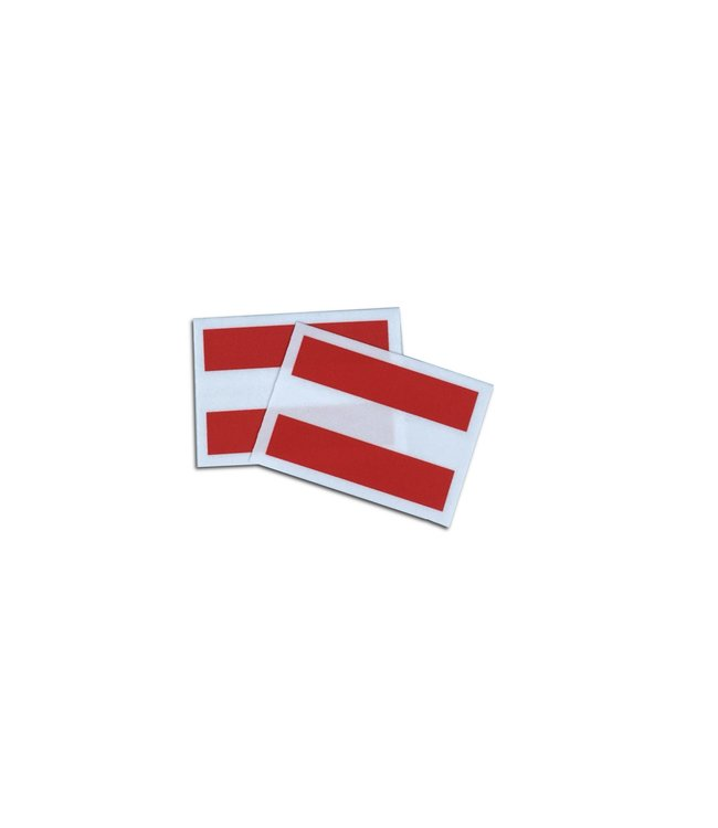 KV Gymnastics Wear Oostenrijkse vlag stretch (7cm x 5,5cm)