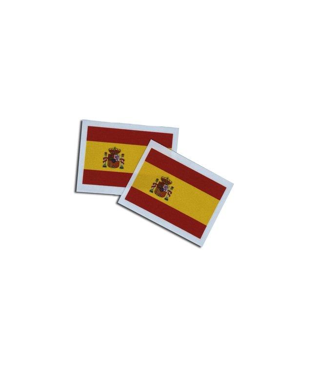 KV Gymnastics Wear Spaanse vlag stretch (7cm x 5,5cm)